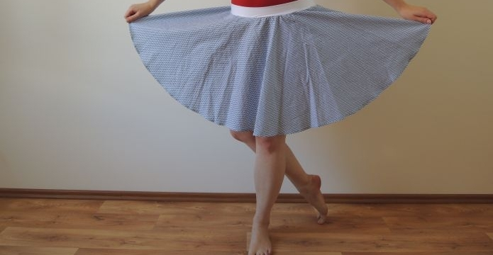 Dokolečka dokola s pravou sukní na léto - uvod