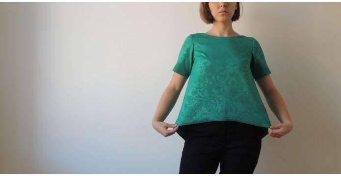Můj šatník oživil smaragdově zelený top - green-top-uvod