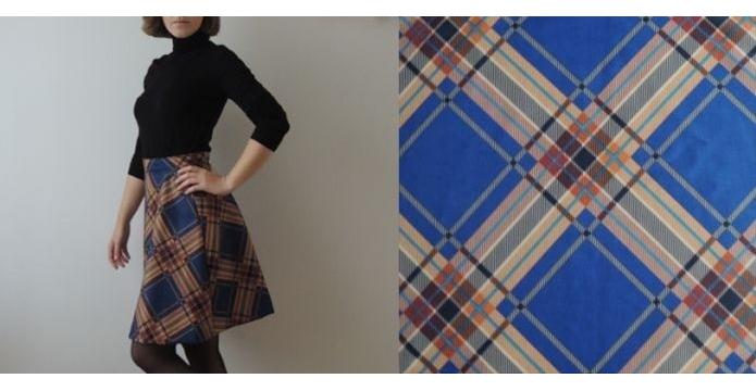 Zahajuji podzim sedmdesátkovou sukní - karovana-sukne-uvod