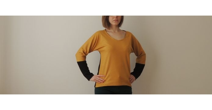 Ušila jsem triko v barvě hořčice - zlutetriko-uvod