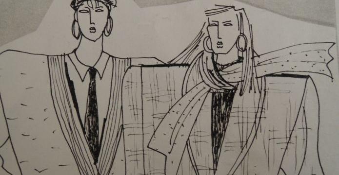 Maxi bundy a lesklá 80. léta - nákres1