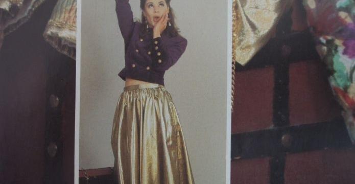 Zlatá slavnostní inspirace - sukně