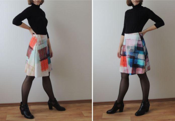 Áčková barevná sukně